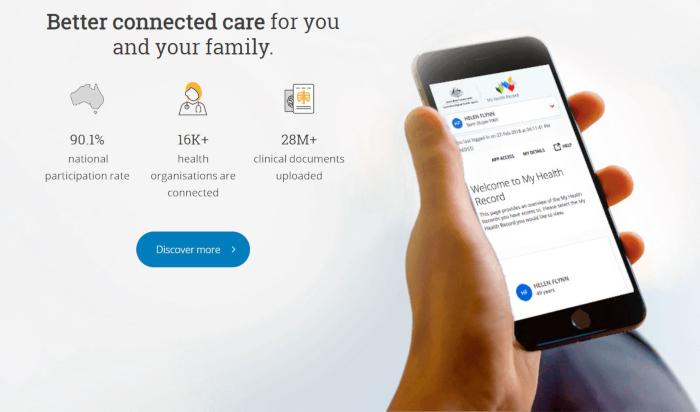 Australien ist Meine Gesundheit Datensatz bekommt ein upgrade mit verbesserter klinischer workflow-Funktionen
