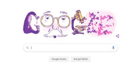 Google ehrt den Bakteriologen Hans Christian Gram mit einem Doodle