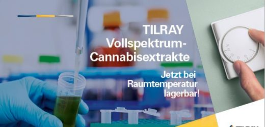 NEU: TILRAY Extrakte jetzt bei Raumtemperatur lagerbar