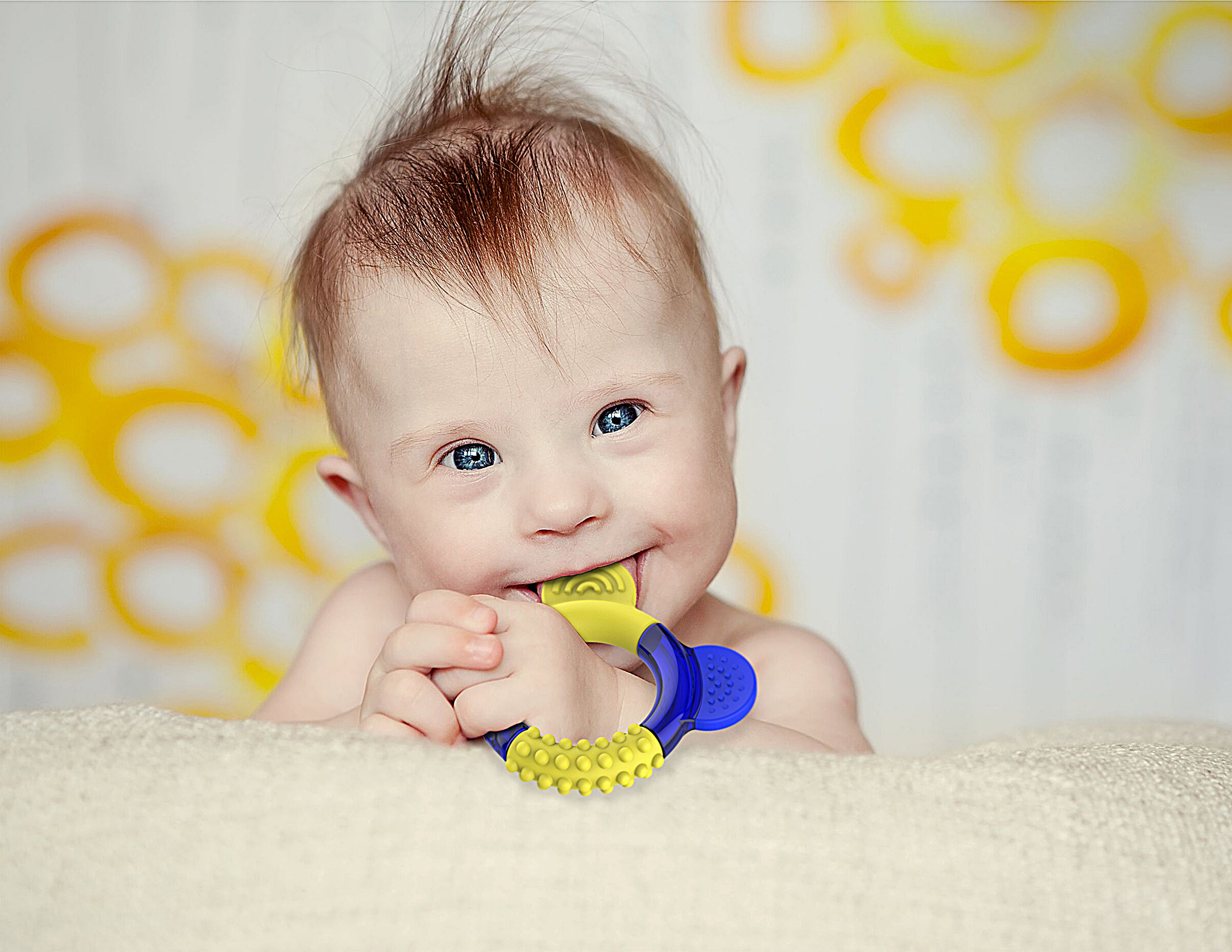 Kiefer-Stärkung der Beißring wurde speziell für Kinder mit Down-Syndrom