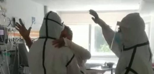 Noch im Krankenhaus: 60-Jähriger feiert Corona-Heilung mit Tänzchen