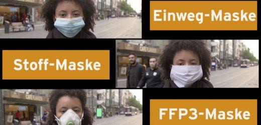 Stoff, Einweg oder FFP3: Mit welcher Maske kann man am besten atmen?