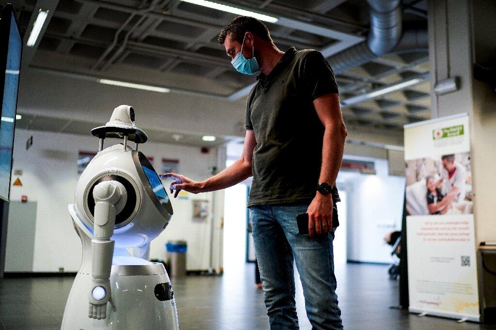 Robomedic ist das droid Antwerpen Krankenhaus war auf der Suche nach