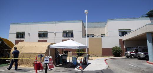 Virus Fällen spike county in Kalifornien an der mexikanischen Grenze