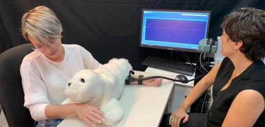Eine furry-soziale Roboter, die Schmerz zu verringern und erhöhen Glück