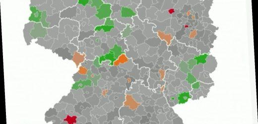 """Immer mehr """"rote Landkreise"""" –wo sich das Virus in Deutschland besonders schnell verbreitet"""